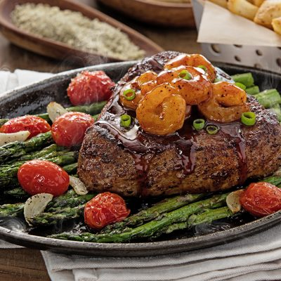 Chili's Sizzling Honey Chipotle Shrimp and Sirloin