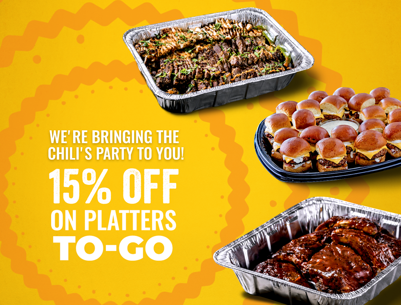 Chili's Platters To-Go 15off
