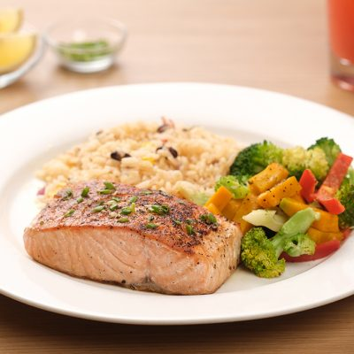 Chili's Seafood - Grilled Salmon with Garlic and Herbs