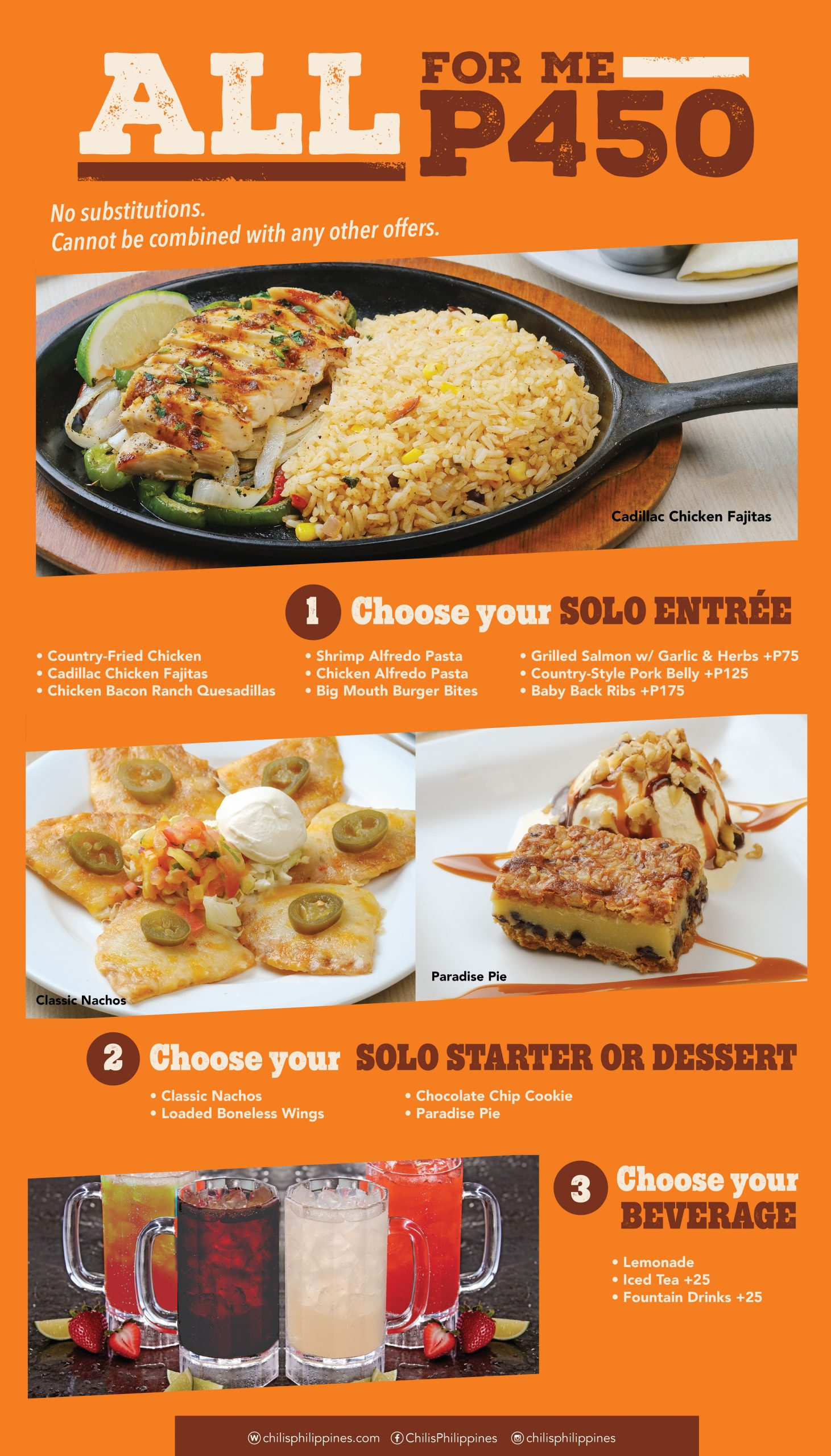 Chili's All For Me Menu