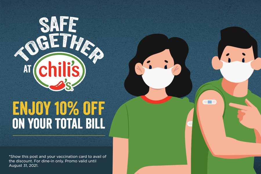 Safe Together At Chili's Vaccination Promo